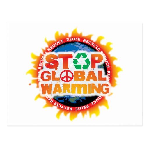 Pare el calentamiento del planeta tarjeta postal
