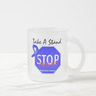 Pare el cáncer de colon toman un soporte taza de café
