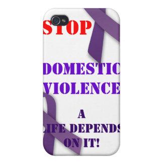 Pare el caso de Iphone de la violencia en el hogar iPhone 4 Carcasas