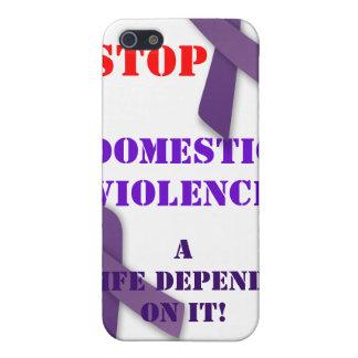 Pare el caso de Iphone de la violencia en el hogar iPhone 5 Fundas