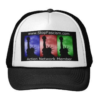 Pare el casquillo del miembro de la red de la acci gorras