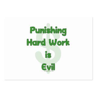 Pare el castigar del trabajo duro tarjetas de visita