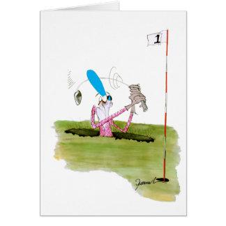 pare el cavar - golf, fernandes tony tarjeta de felicitación