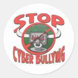 Pare el Cibernético-Tiranizar del engranaje anti Pegatinas Redondas
