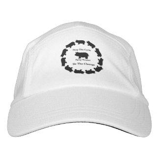 Pare el ciclo, sea el cambio, mini gorra del gorra de alto rendimiento