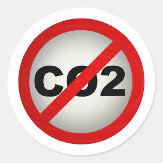 Pare el CO2 Etiquetas Redondas