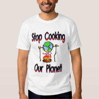 Pare el cocinar de nuestro planeta remeras