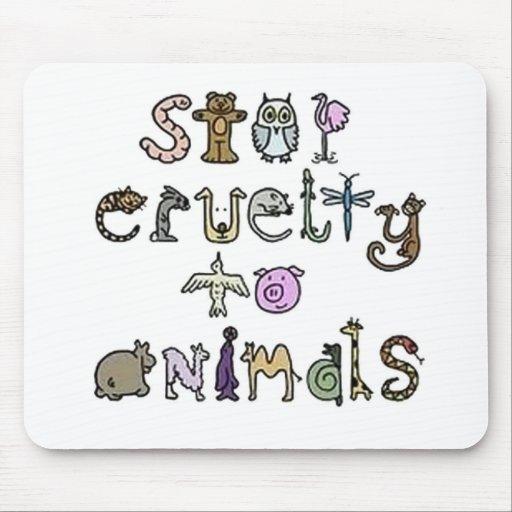 Pare el cojín de ratón de la crueldad tapetes de ratón