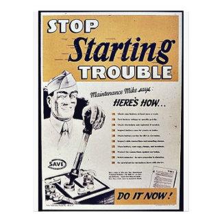 Pare el comenzar de problema tarjetas publicitarias
