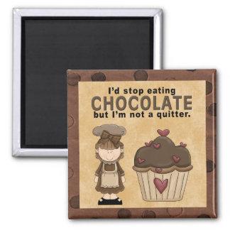 Pare el comer del imán del chocolate