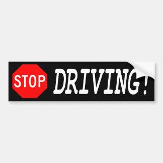 Pare el conducir de la pegatina para el parachoque etiqueta de parachoque