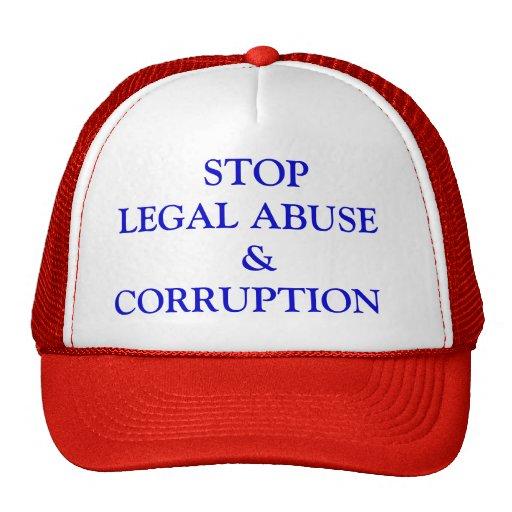 PARE EL &CORRUPTION LEGAL   DEL ABUSO GORROS