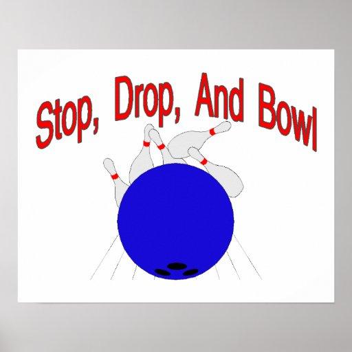 Pare el cuenco del descenso póster