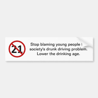 Pare el culpar de gente joven pegatina para auto