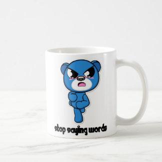 ¡Pare el decir del oso de las palabras! Taza Básica Blanca