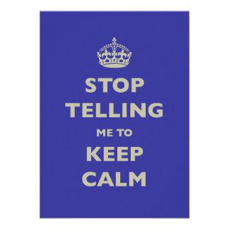 Pare el decir me guardar calma comunicados