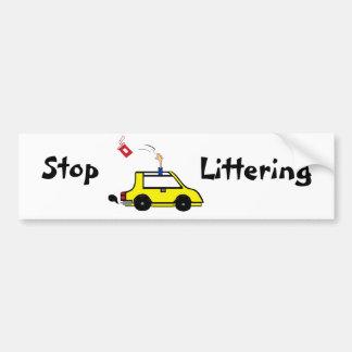 Pare el dejar en desorden de la pegatina para el p pegatina para auto