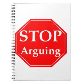 Pare el discutir libreta espiral