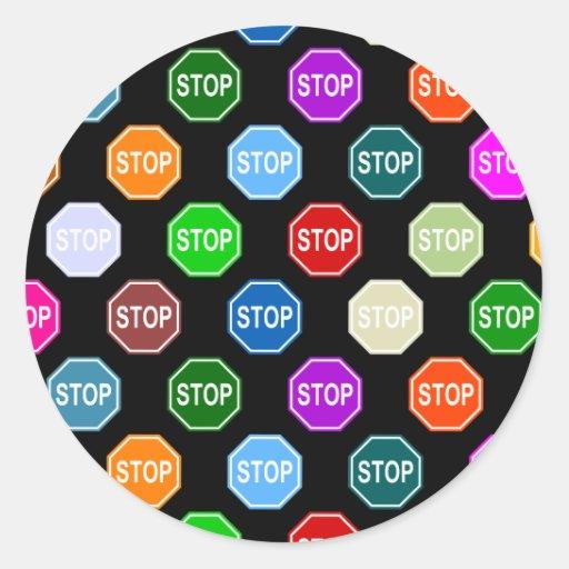 Pare el diseño del modelo del multicolor de la pegatina redonda