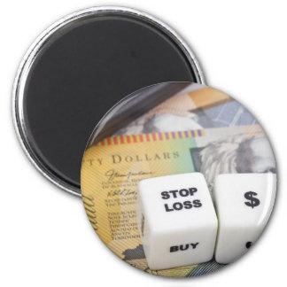 Pare el dólar australiano de la pérdida imán redondo 5 cm