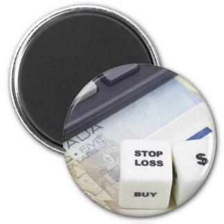 Pare el dólar canadiense de la pérdida imán redondo 5 cm