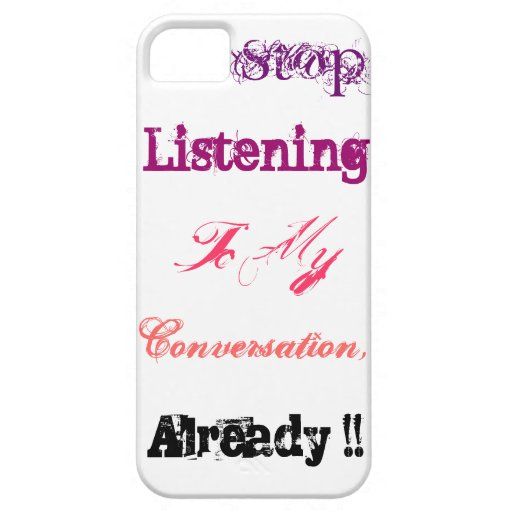 Pare el escuchar iPhone 5 Case-Mate cárcasas