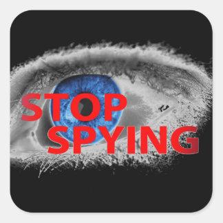 Pare el espiar colcomanias cuadradas personalizadas