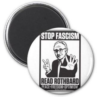 Pare el fascismo imán redondo 5 cm