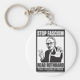 Pare el fascismo llavero redondo tipo pin