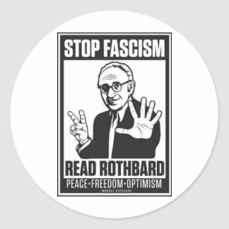 Pare el fascismo pegatina