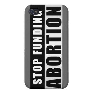 Pare el financiar del aborto iPhone 4 fundas