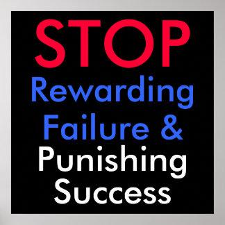PARE el fracaso Rewarding y éxito el castigar Póster