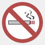 Pare el fumar de los pegatinas pegatinas redondas