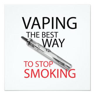 """Pare el fumar invitación 5.25"""" x 5.25"""""""