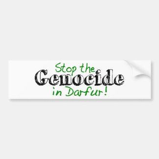 Pare el genocidio Darfur Etiqueta De Parachoque