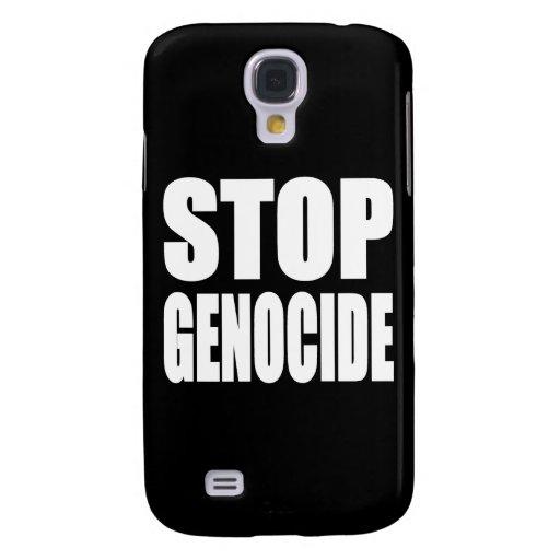 Pare el genocidio. Proteste el mensaje Funda Para Galaxy S4