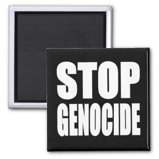 Pare el genocidio. Proteste el mensaje Imán Cuadrado
