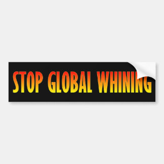 Pare el gimoteo global etiqueta de parachoque