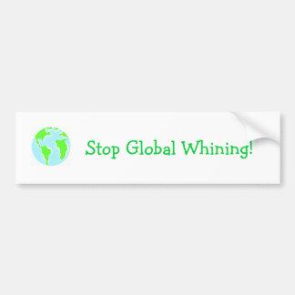¡Pare el gimoteo global! Etiqueta De Parachoque