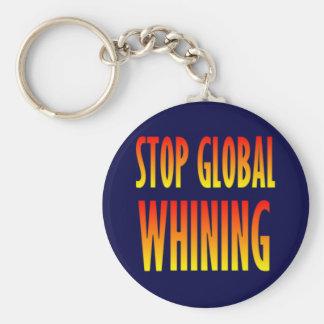 Pare el gimoteo global llavero personalizado