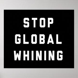 Pare el gimoteo global impresiones