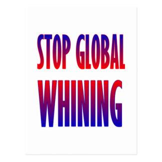 Pare el gimoteo global postales