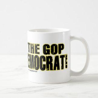 ¡Pare el GOP - voto Demócrata! Taza