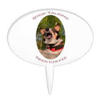 Pare el hablar… del café de la necesidad palillos de tarta