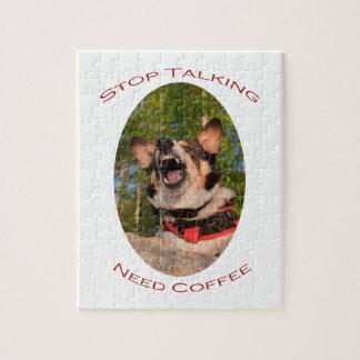 Pare el hablar… del café de la necesidad rompecabezas con fotos