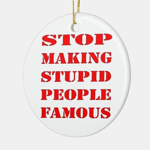 Pare el hacer de gente estúpida famosa ornamentos para reyes magos