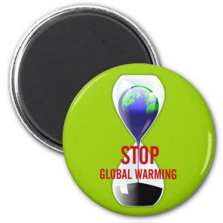 Pare el imán del reloj de arena del calentamiento
