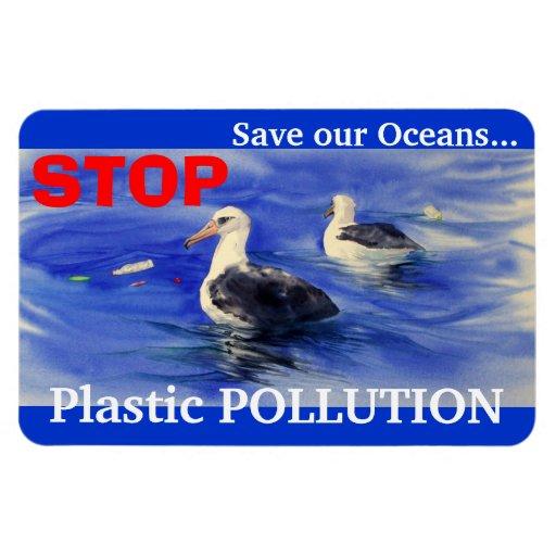PARE el imán plástico de la contaminación