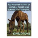 Pare el intentar resolver las expectativas de la o tarjeta