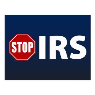 Pare el IRS Tarjetas Postales
